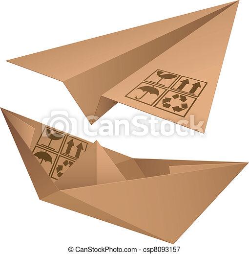 Shipping symbols. - csp8093157