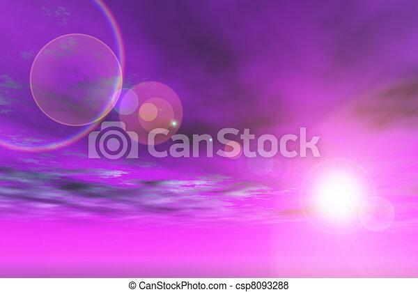 Purple sky lens flare - csp8093288