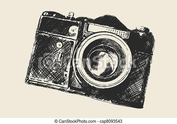 old school photography - csp8093543