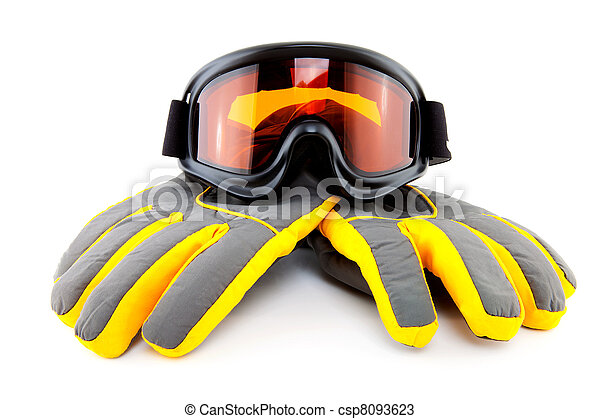 ski goggles and gloves  - csp8093623