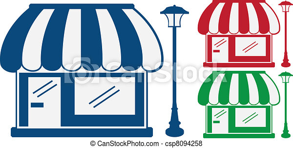 3 Store Fronts - csp8094258