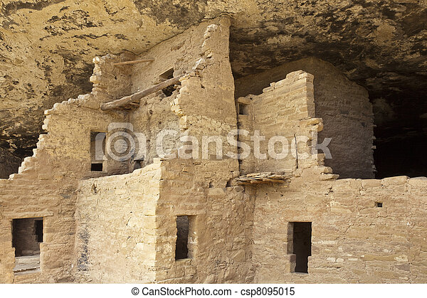 Native american cliff dwelling - csp8095015