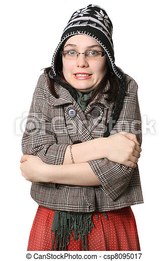 Freezing Cold Woman Freezing cold girl -