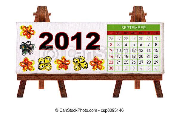 2012 desk calendar  - csp8095146