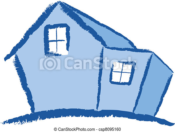 Vector clipart of modern house illustration a colourful for Modern house clipart