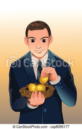 Business financial savings - csp8095177