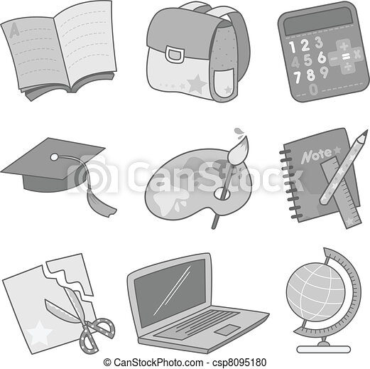 Education icons - csp8095180