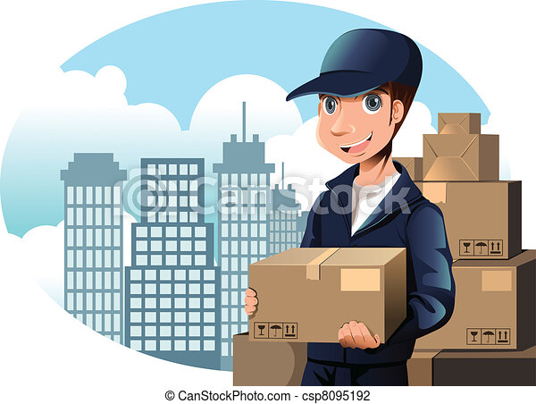 Delivery man - csp8095192