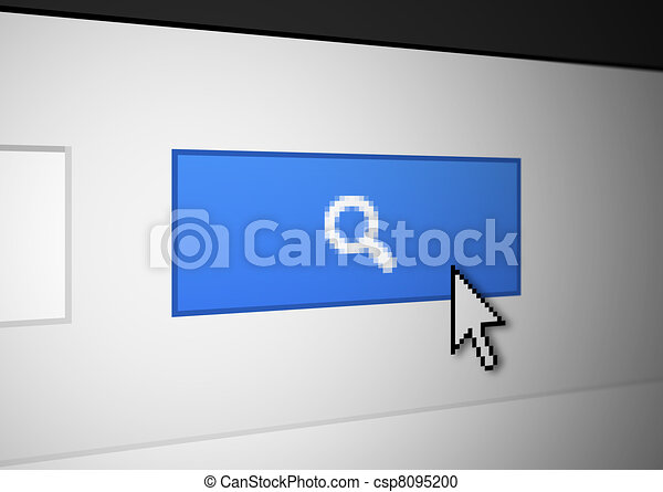 Magnifying glass button - csp8095200