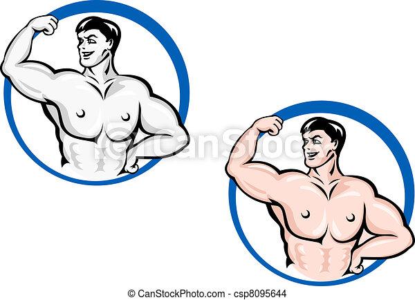 Powerful bodybuilder - csp8095644