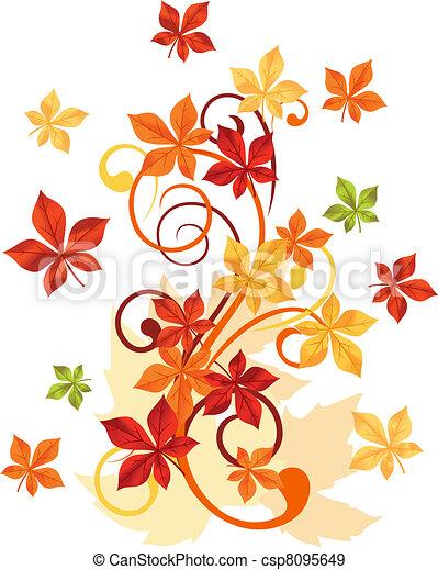 Autumnal leaves - csp8095649