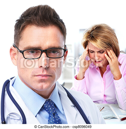 Doctor psychiatrist and patient. - csp8096049