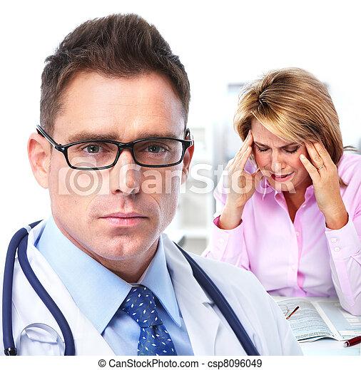 Doctor psychiatrist and patient. - csp8096049