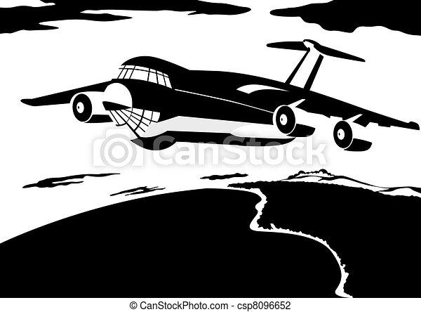 A passenger airliner - csp8096652
