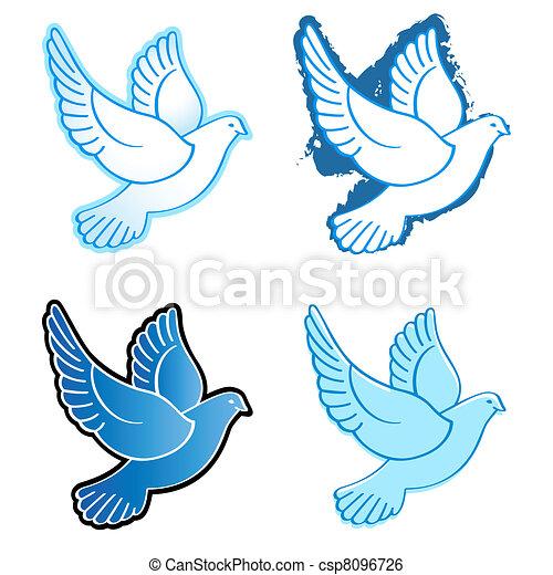 Flying doves - csp8096726