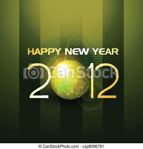 music style new year - csp8096791