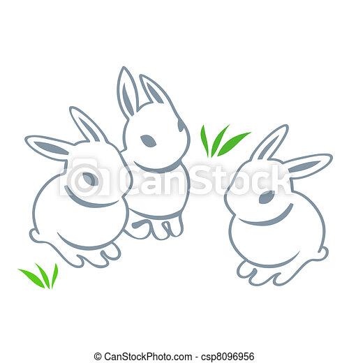 Easter rabbits - csp8096956