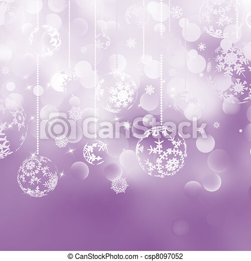 Christmas bokeh background with baubles. EPS 8 - csp8097052