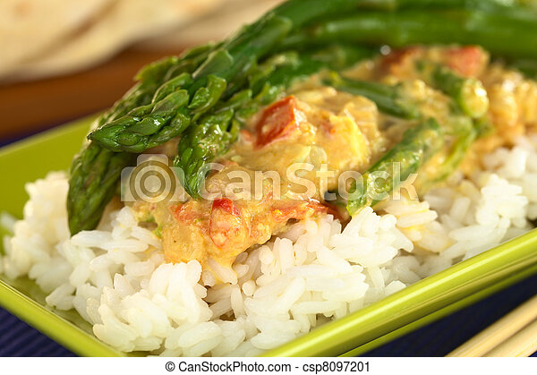 Green asparagus curry - csp8097201