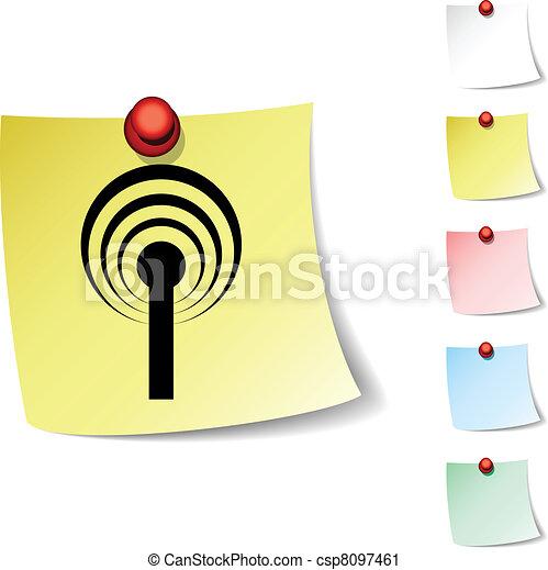 Radio  icon. - csp8097461