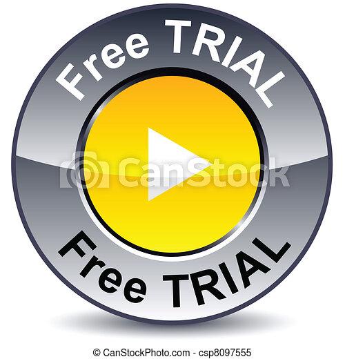 Free trial round button. - csp8097555