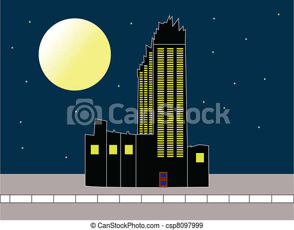 Sky scraper illustration - csp8097999