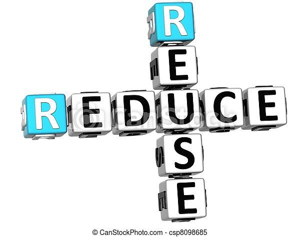 3D Reduce Reuse Crossword - csp8098685
