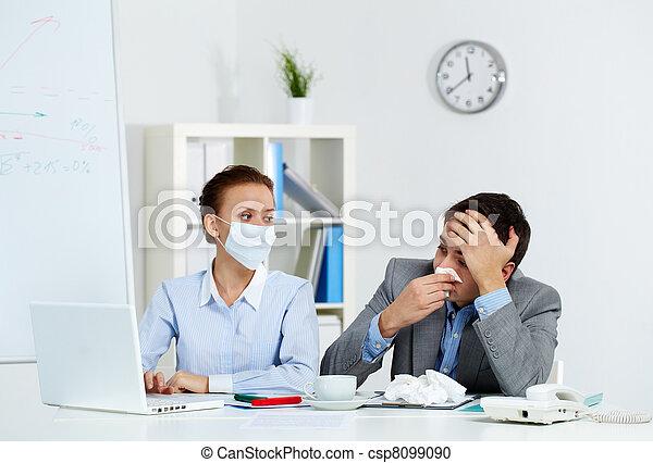 Working during illness - csp8099090