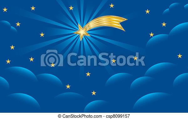 Star of Bethlehem - Christmas Background - csp8099157