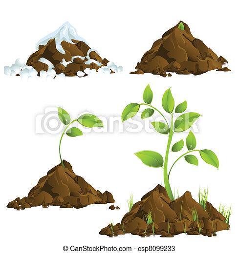 Growing plants - csp8099233
