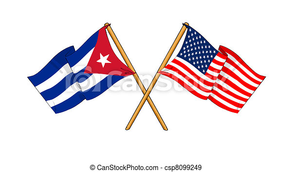 America and Cuba alliance and friendship - csp8099249
