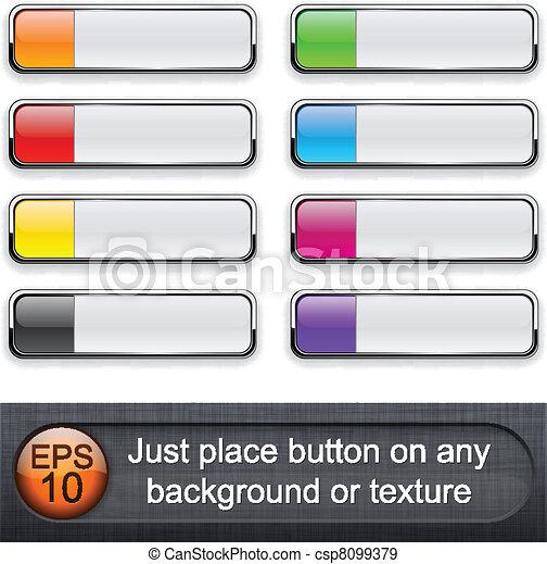 Rectangular glossy buttons. - csp8099379