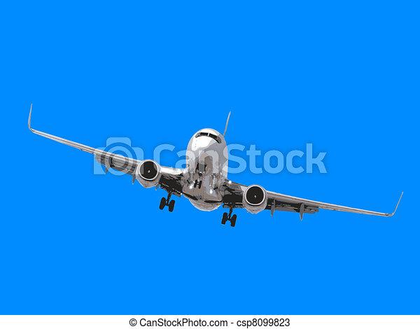 Airplane landing - csp8099823