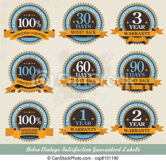 Retro vintage satisfaction guaranteed labels - csp8101190