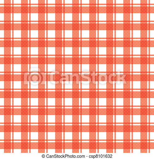 Vector illustration of tablecloth - csp8101632