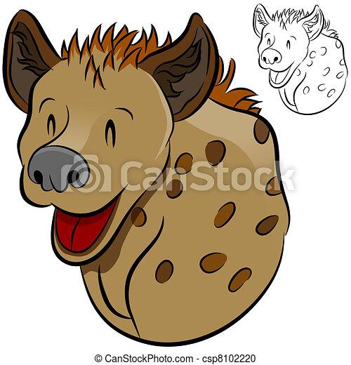 Clipart vettoriali di iena selvatico animale un - Animale cartone animato immagini gratis ...