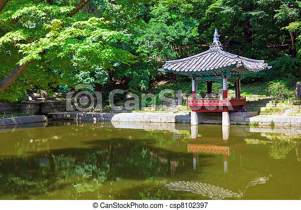 Pagoda in Changdeokgung Palace - csp8102397