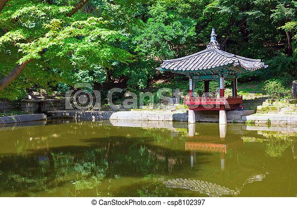 Pagoda in Changdeokgung Palace - csp8102397