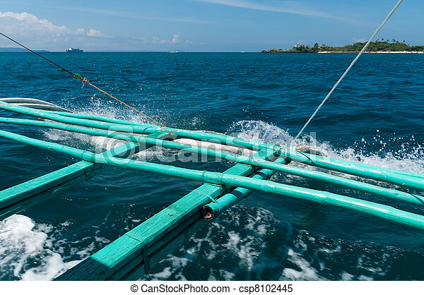 Stock Images of bamboo outrigger of a traditional philippine ...