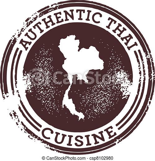Classic Authentic Thai Food Stamp - csp8102980