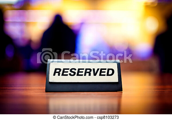 Reserved sign  - csp8103273