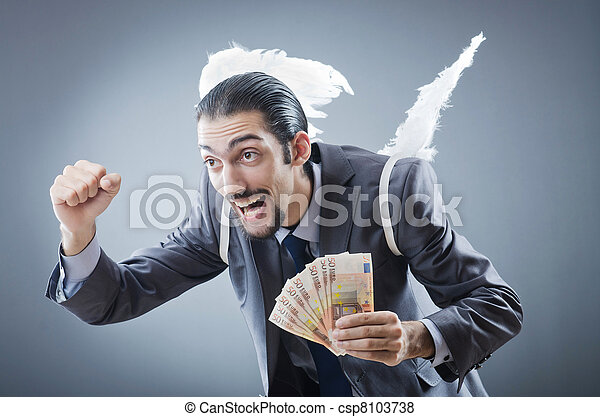 Business angel with money - csp8103738
