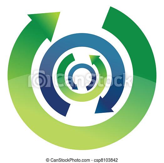 Bright Arrow Circulation - csp8103842