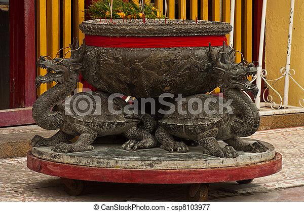 tortuga, dragon. - csp8103977