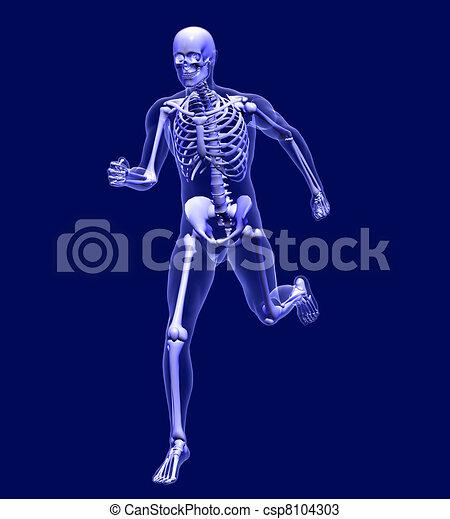 Xray Man Running - csp8104303
