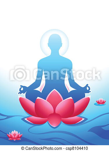 Yoga meditation - csp8104410
