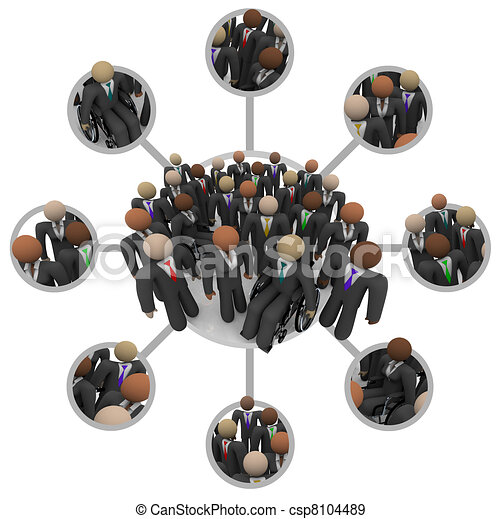 Diverse Workforce of Connected Professional People in Suits - csp8104489