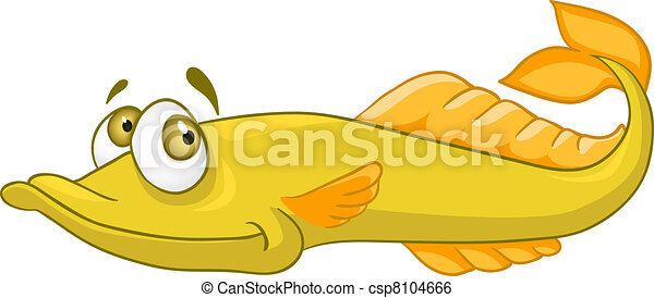 Cartoon Character Pike - csp8104666