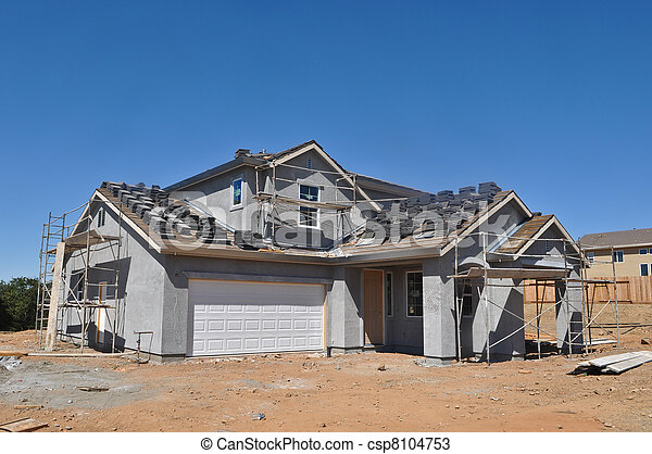 New Residential Home under Construction - csp8104753