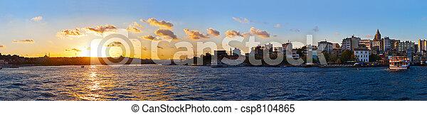 Istanbul sunset panorama - csp8104865